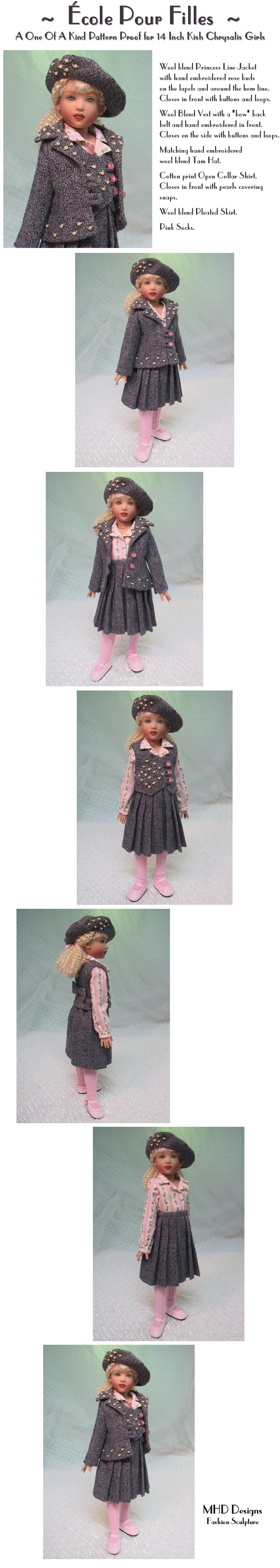 Girl's School - a One Of A Kind Pattern Proof by MHD Designs - High Resolution Photographs, your patience is appreciated!
