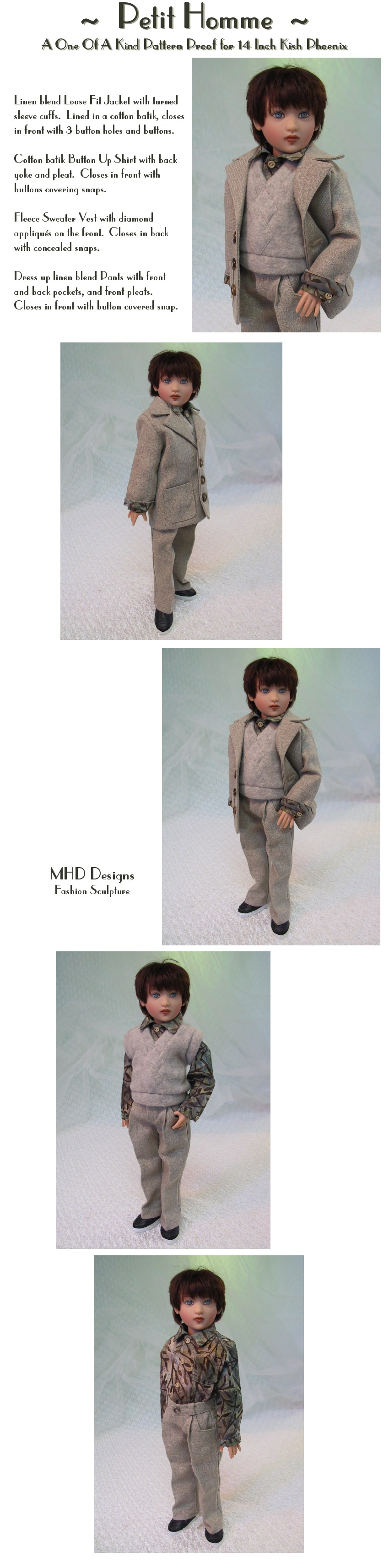 Little Man - a One Of A Kind Pattern Proof by MHD Designs - High Resolution Photographs, your patience is appreciated!