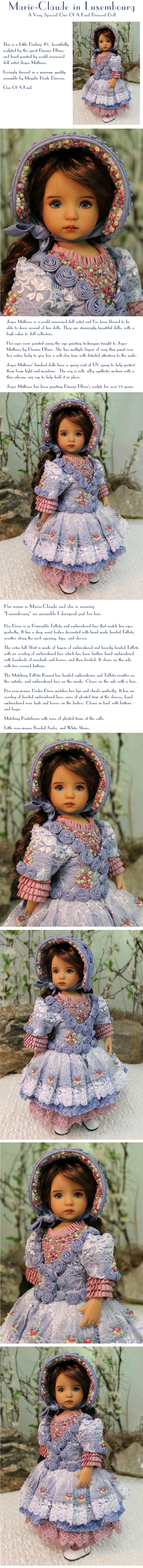 Marie-Claude in Luxembourg - a One Of A Kind Dressed Doll by MHD Designs
