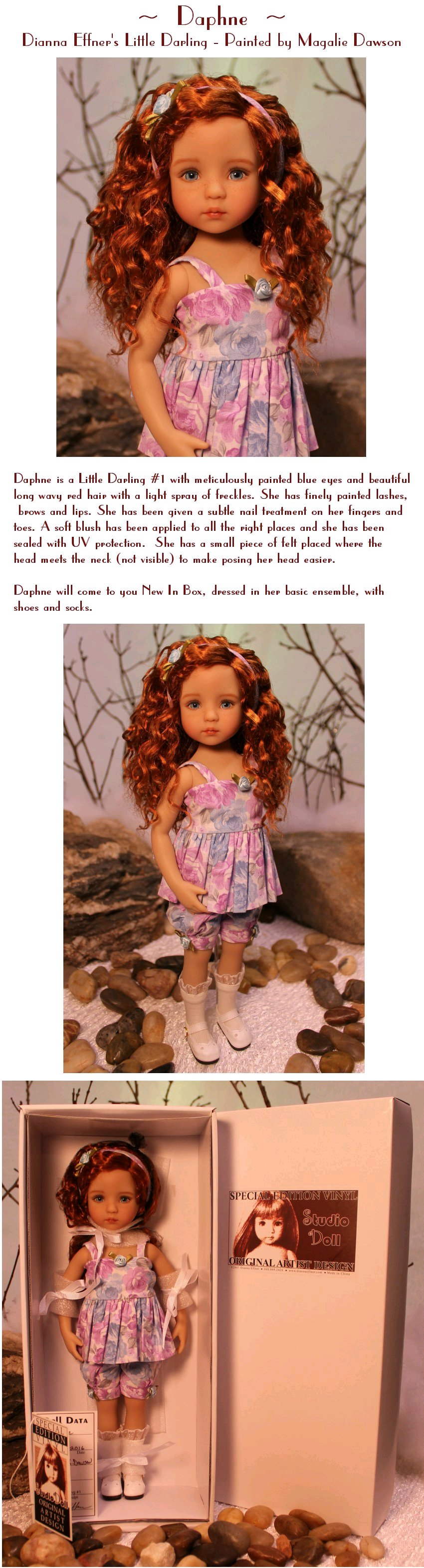 Daphne  - Dianna Effner's Little Darling #1 Painted by Magalie Dawson