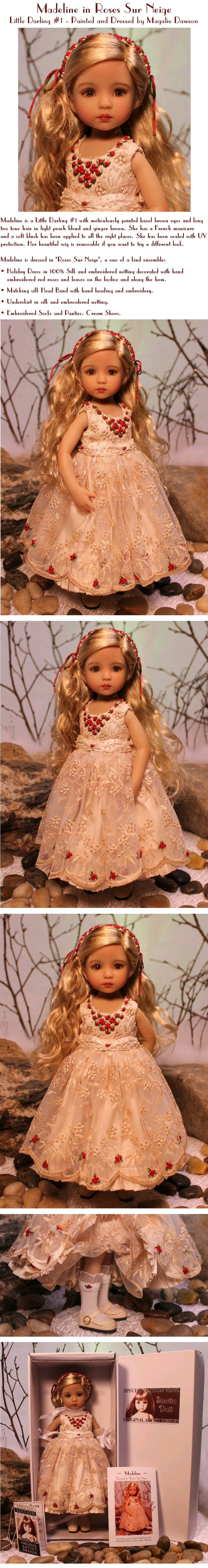 Madeline dressed in Roses Sur Neige
