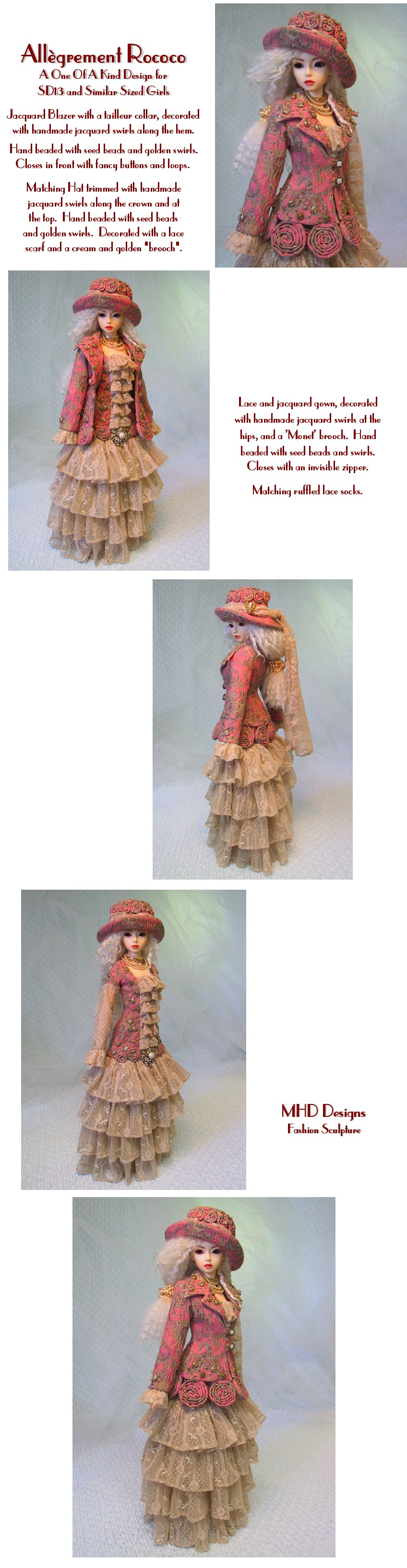 Lighthearted Rococo - an OOAK Design by Magalie Houle Dawson - 5 High Resolution Photographs, your patience is appreciated!