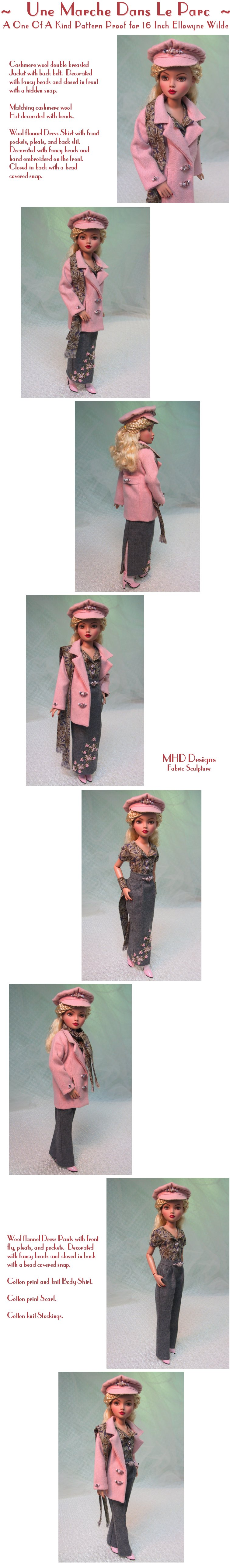MHD Designs - A Walk In The Park - a One Of A Kind Pattern Proof - High Resolution Photographs, your patience is appreciated!