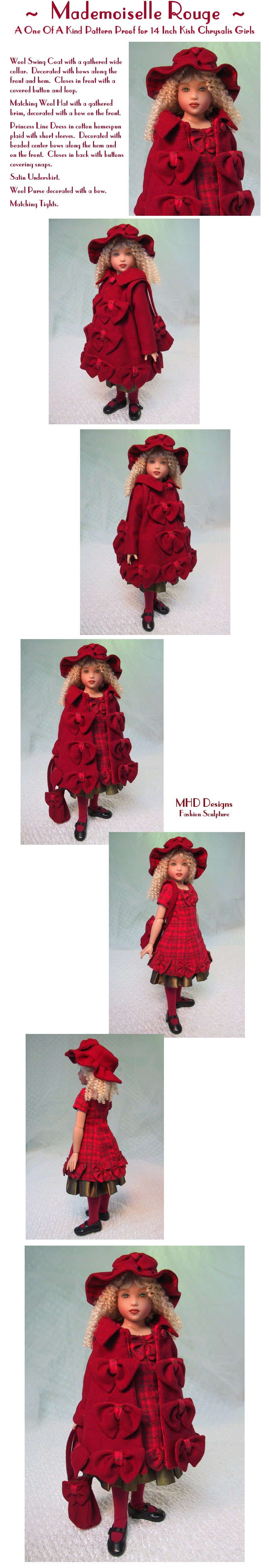 Maiden In Red - a One Of A Kind Pattern Proof by MHD Designs - High Resolution Photographs, your patience is appreciated!