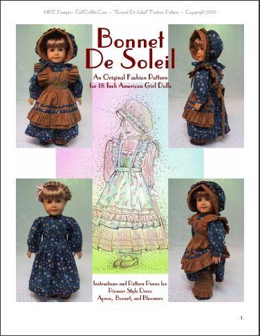 Butterick Colonial Gown, Apron, Pantaloons, Bonnet Pattern 8-14