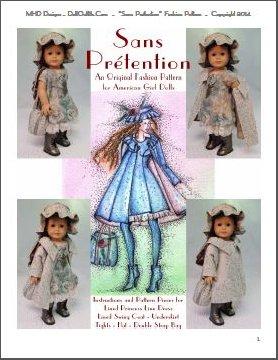 """/""""Mon Bon Manteau/"""" Fashion Pattern 4 American Girl Dolls"""